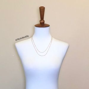 J. Crew Jewelry - J. Crew delicate two-layered chain necklace